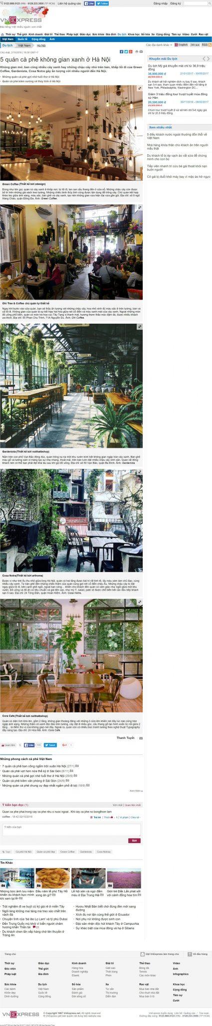 5 quán cà phê không gian xanh ở Hà Nội - VnExpress Du lịch