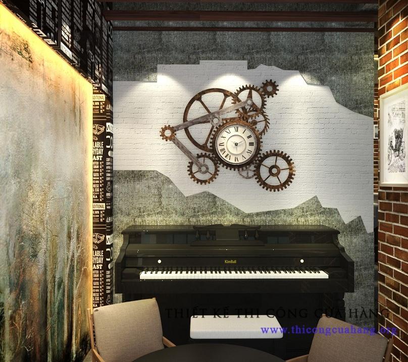 Một góc quán rộng có thể đặt được cả đàn piano.