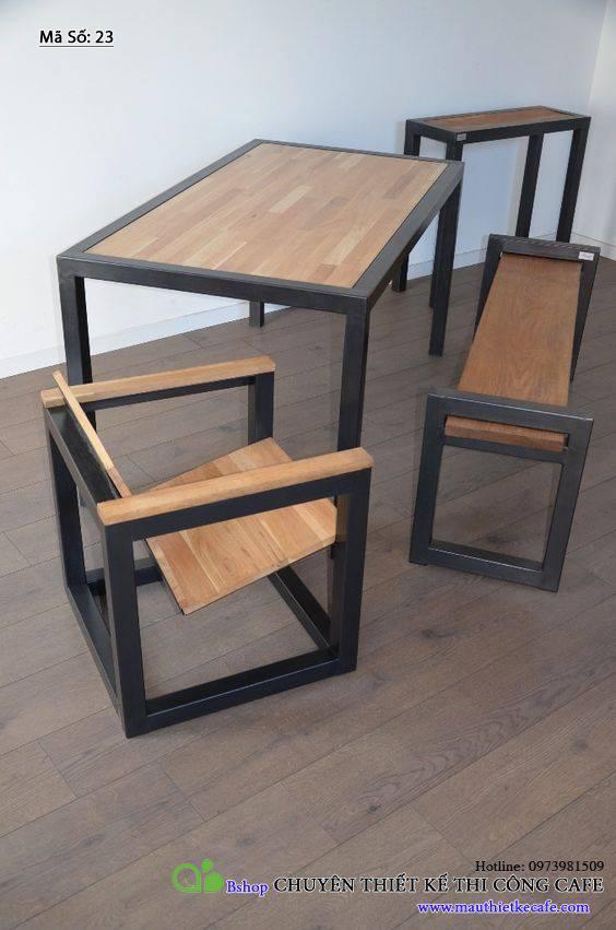 Bộ bàn ghế sáng tạo