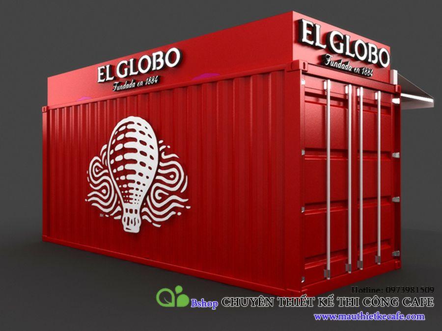 thiết kế quán cafe container tiết kiệm