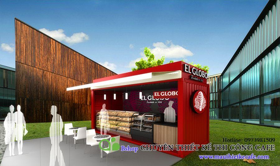 thiết kế quán cafe container tiết kiệm chi phí