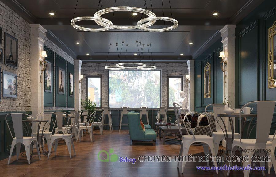 thiết kế nội thất cafe phong cách ý