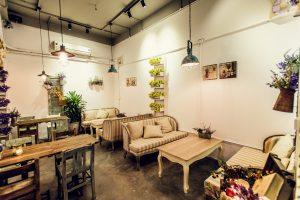 thiết kế không gian quán cafe