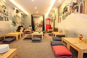 thiết kế quán cafe bệt