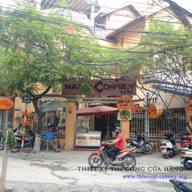 Hình ảnh mặt tiền của quán cafe cũ trước kia.