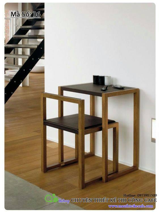 bàn ghế gỗ đơn