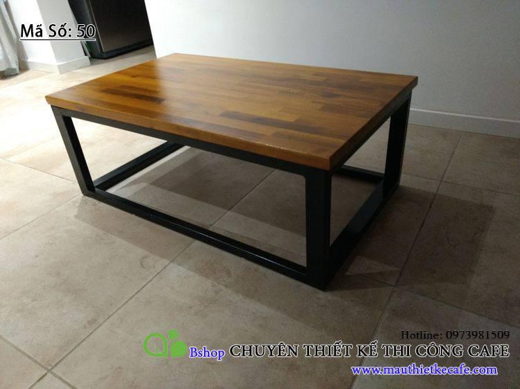 bàn cafe dạng thấp khung sắt
