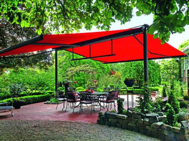 Tư vấn thiết kế mái che quán cafe sân vườn