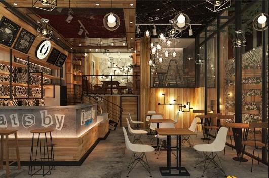 Lựa chọn ghế cafe cho thiết kế quán cafe phong cách công nghiệp